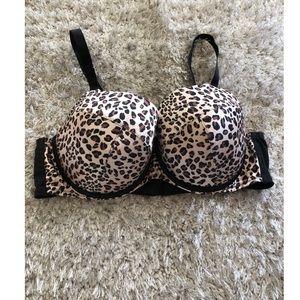 Lane Bryant Cacique Leopard Pattern Bra Size 46C